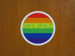 lgbtq safe space sticker closeup