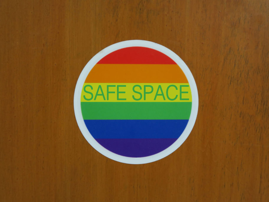 lgbtq safe space sticker closeup