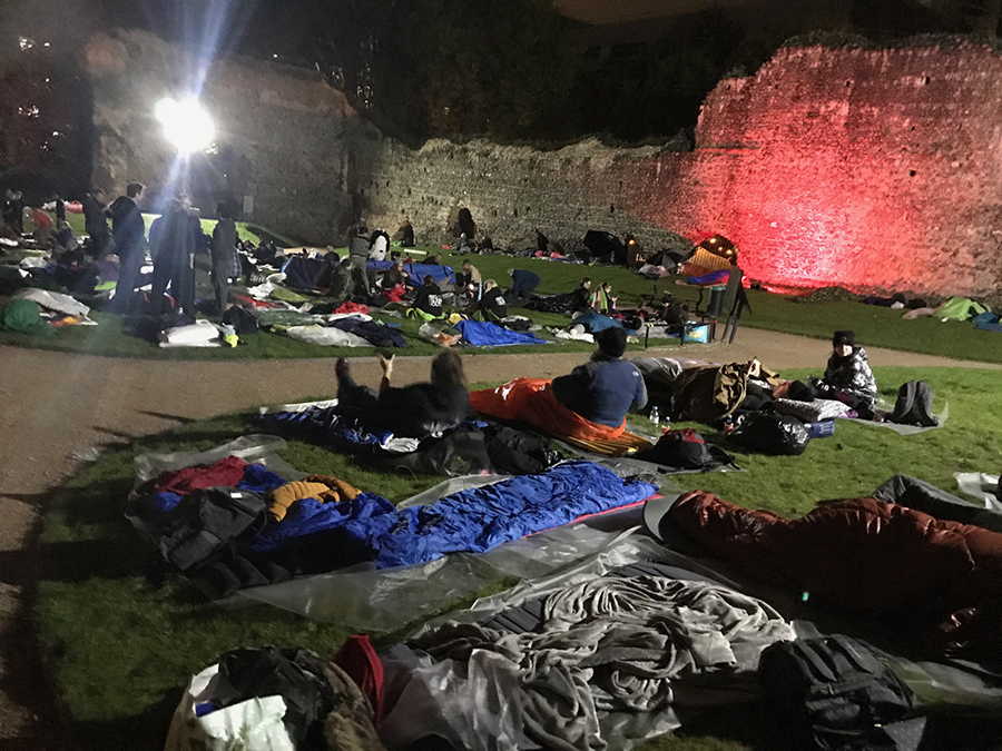 A record £60k raised at Big Sleep Out