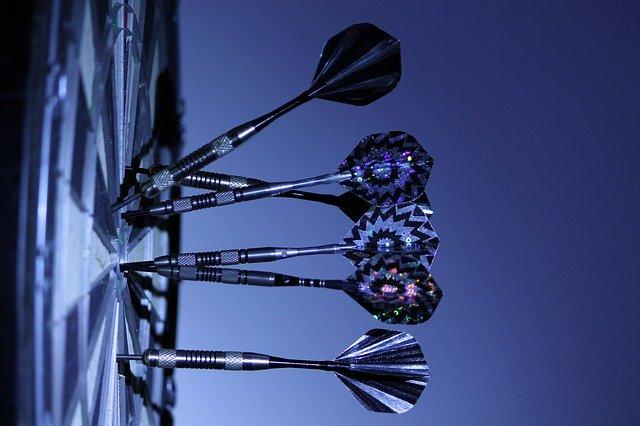 Darts on a dart board