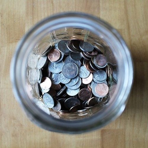 Jar full of loose change